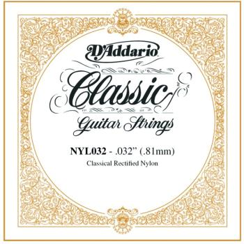 D'Addario Rectified Nylon Single Strings, .032 (5) (DD-NYL032)