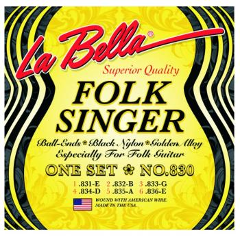 "La Bella® ""Folk Singer"", Folk/Nylon String Set (LB-L830)"