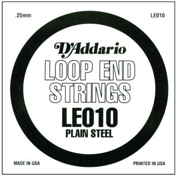 D'Addario Plain Steel Loop End Strings, .010 (LE010)