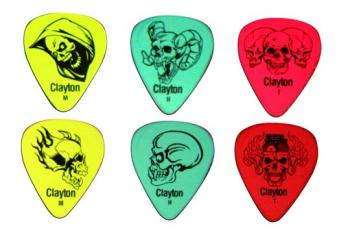 Clayton Demonized Skulls Guitar Picks, 12 Pack (CL-MTR-D12)