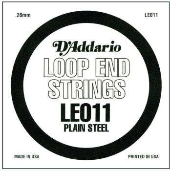D'Addario Plain Steel Loop End Strings, .011 (LE011)