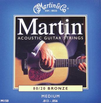 Martin SP 80/20 Authentic Bronze Acoustic Guitar Strings, Medium 13-56 (MA150)