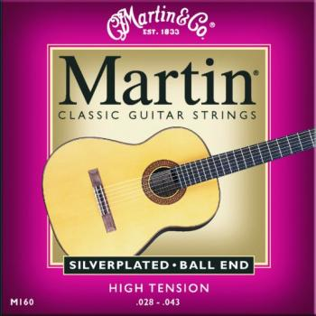 Martin Silverplated Hi-Tension Classical, Ball End (MA-M160)