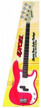 Excel Electric Bass Guitar Package, Red (EX-EXBRD)