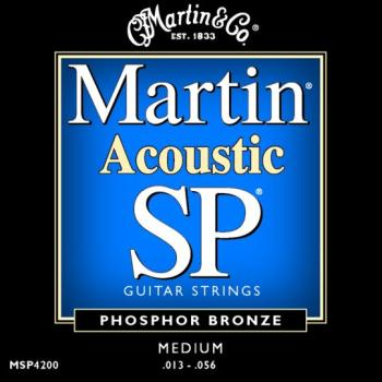 Martin Authentic SP Phosphor Bronze Acoustic Strings, Medium (MA550)