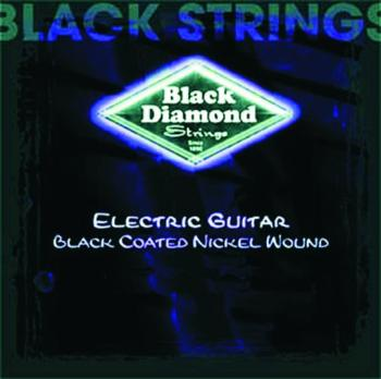 Black Diamond Coated, Nickel Wound Strings, Ex. Lt (BD-N477XLB)