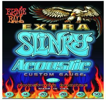 Ernie Ball Phosphor Bronze Acoustic, Extra Slinky (EB-EB2150)