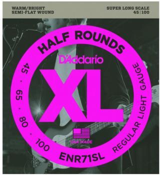 D'Addario Half Round Bass S. Long Strings, Reg. Lt (DD-ENR71SL)