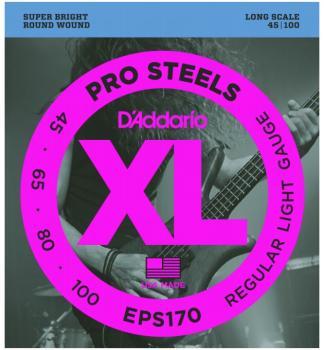 D'Addario XL ProSteels Bass Strings, Regular Light (DD-EPS170)