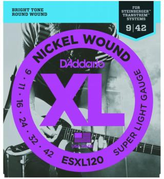 D'Addario XL Strings, Super Light Double Ball End (DD-ESXL120)