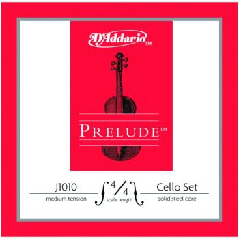 Prelude Medium Tension Cello String Set, 4/4 (PD-J101044M)