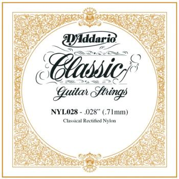 D'Addario Rectified Nylon Single Strings, .028 (5) (DD-NYL028)