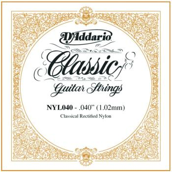 D'Addario Rectified Nylon Single Strings, .040 (5) (DD-NYL040)