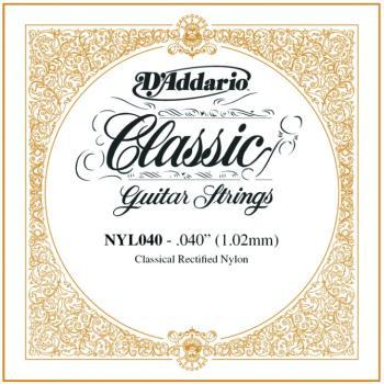 D'Addario Rectified Nylon Single Strings, .040 (5) (DD-NYL040)