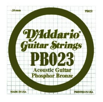 D'Addario Phosphor Bronze Single String, .023 (5) (DD-PB023)