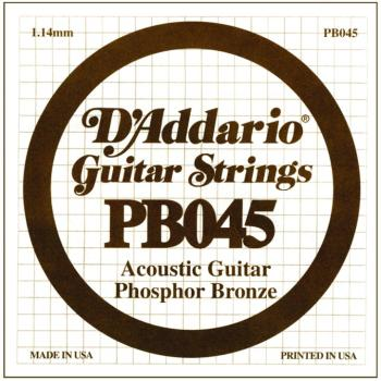 D'Addario Phosphor Bronze Single String, .045 (5) (DD-PB045)