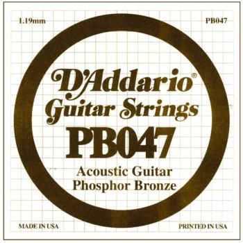 D'Addario Phosphor Bronze Single String, .047 (5) (DD-PB047)