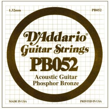 D'Addario Phosphor Bronze Single String, .052 (5) (DD-PB052)
