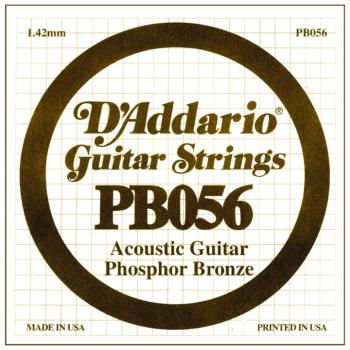 D'Addario Phosphor Bronze Single String, .056 (5) (DD-PB056)