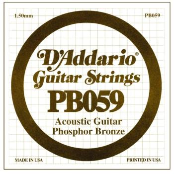 D'Addario Phosphor Bronze Single String, .059 (5) (DD-PB059)