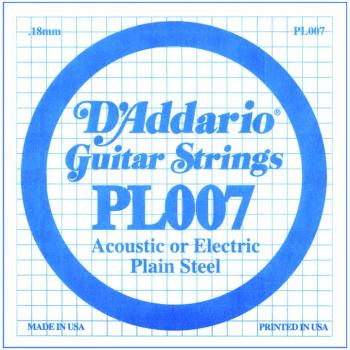 D'Addario Plain Steel Single Strings, .007 (10) (DD-PL007)