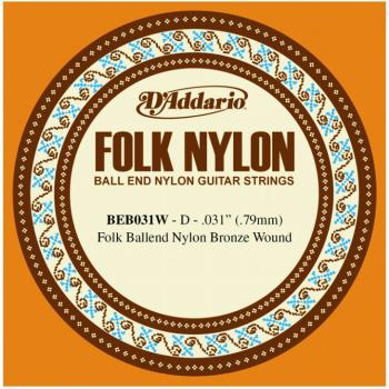 D'Addario Folk/Classical Single Strings, .031 (5) (DD-BEB031W)