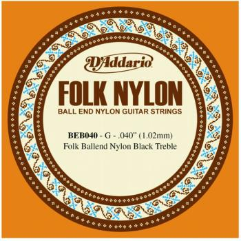 D'Addario Folk/Classical Single Strings, .040 (5) (DD-BEB040)
