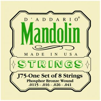 D'Addario Phos Bronze Mandolin Strings, Med Heavy (DD-J75)
