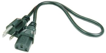 Hosa Power Cord: 3-Prong Male  to IEC Female, 8' (OO-PWC155)