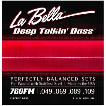 LaBella Deep Talkin'Bass Strings, Flatwound (LB-L760FM)
