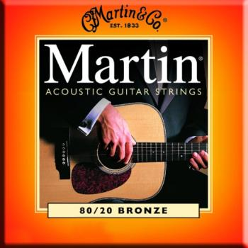 Martin 80/20 Bronze Guitar Strings, Light/Medium (MA-M145)