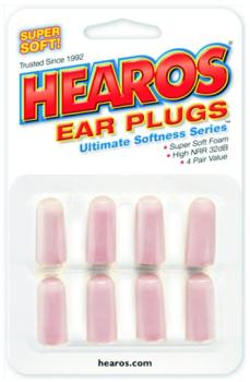 Hearos Ultimate Softness Series Earplugs, 4 Pair (EA-HR2414)