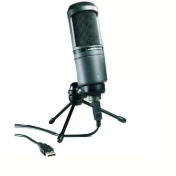Audio Technica USB Cardioid Condenser Microphone (AT-AT2020USB)