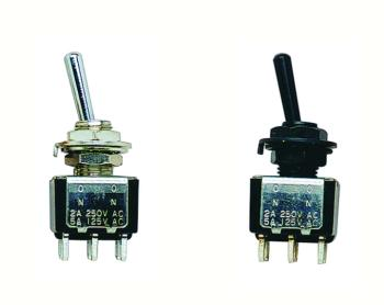 W.D. Mini Toggle Switch, On/On (WD-MTR-S22)