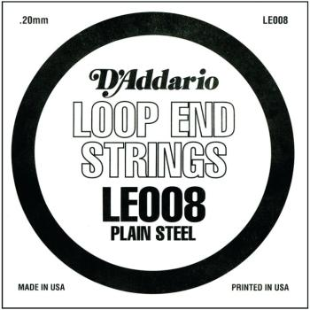 D'Addario Plain Steel Loop End Strings, .008 (10) (DD-LE008)