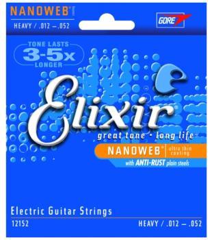Elixir Nanoweb Coated Electric Strings w/ Anti-Rust, Heavy (LI-12152)