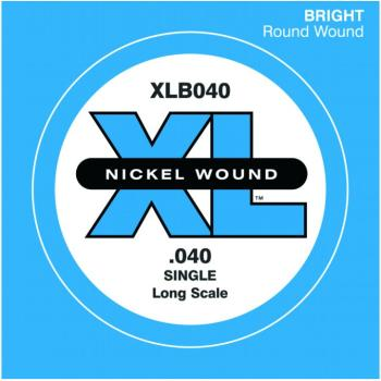 D'Addario XL Nickel Wound Single Bass String, .040 (DD-XLB040)