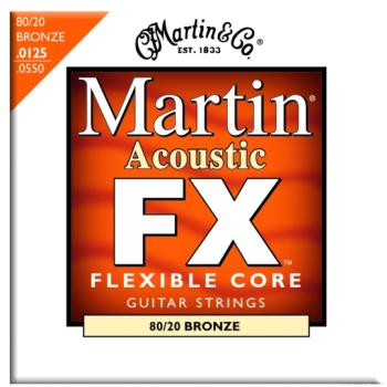 Martin FX 80/20 Bronze Acoustic Strings, Light/Med. (12.5 - 55) (MA-MFX645)