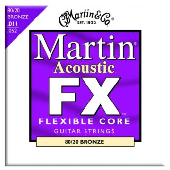 Martin FX 80/20 Bronze Acoustic Strings, Custom Light (MA-MFX675)
