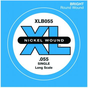 D'Addario XL Nickel Wound Single Bass String, .055 (DD-XLB055)