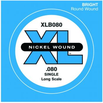 D'Addario XL Nickel Wound Single Bass String, .080 (DD-XLB080)