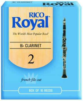 Rico Royal Bb Clarinet Reeds 10 per Box (RR-MTR-1270R)