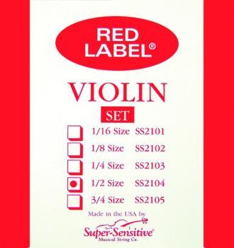 Super Sensitive Orchestra Tone Violin Strings, 1/2 (SU-0012104)